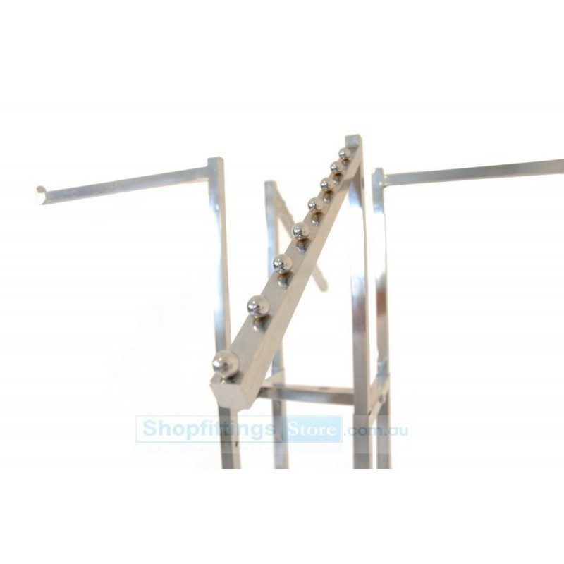 garment displays clothing rack with 4 waterfall stands