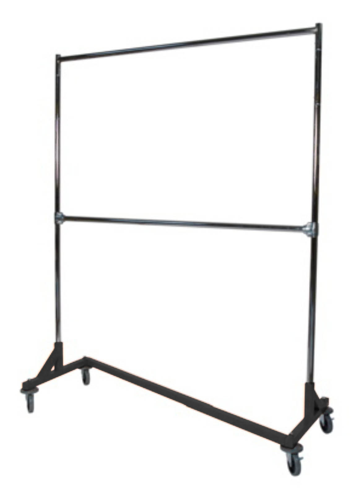 Double Heavy Duty Z Base Rack Garment Clothes Stand ...