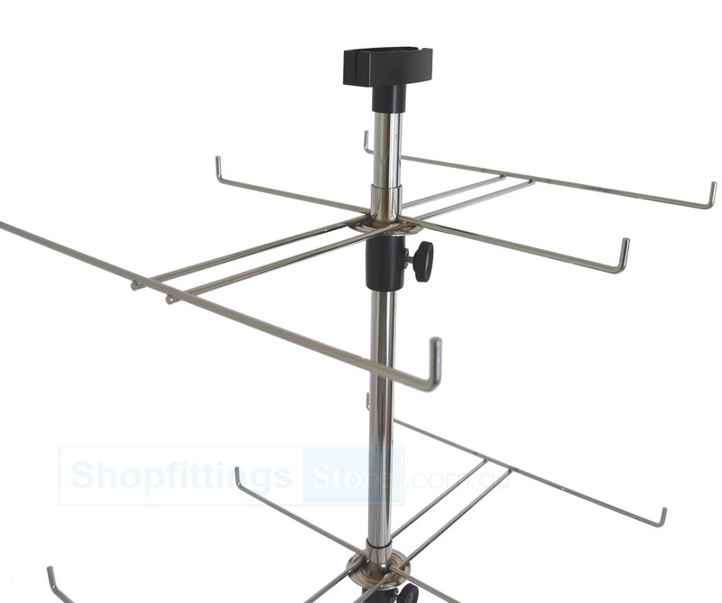 counter top 2 levels 6 prong spinner display stand rack
