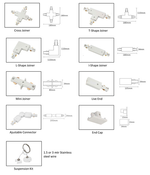 tracking light connectors