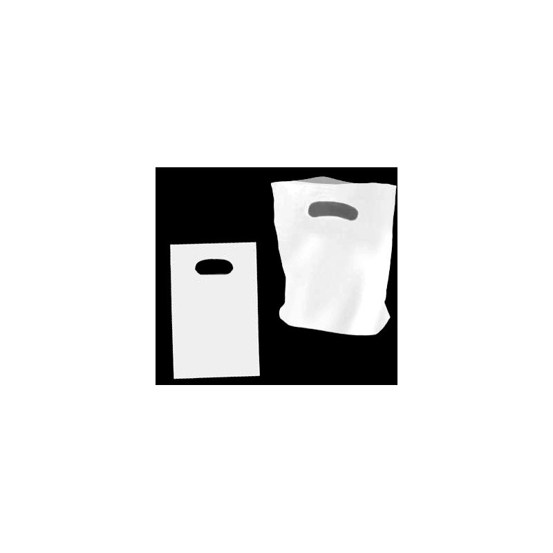 Small White Plastic Carry Bag 210x230mm (pack 100)