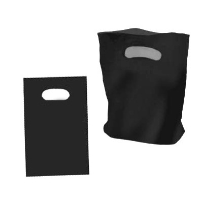 Medium Black Plastic Carry Bag 250x380mm (pack 100)