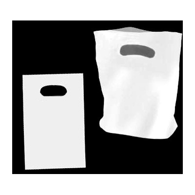 Medium White Plastic Carry Bag 250x380mm (pack 100)