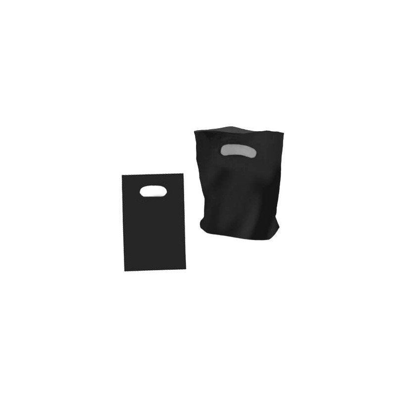 Large Black Plastic Carry Bag 385x500mm (pack 100)