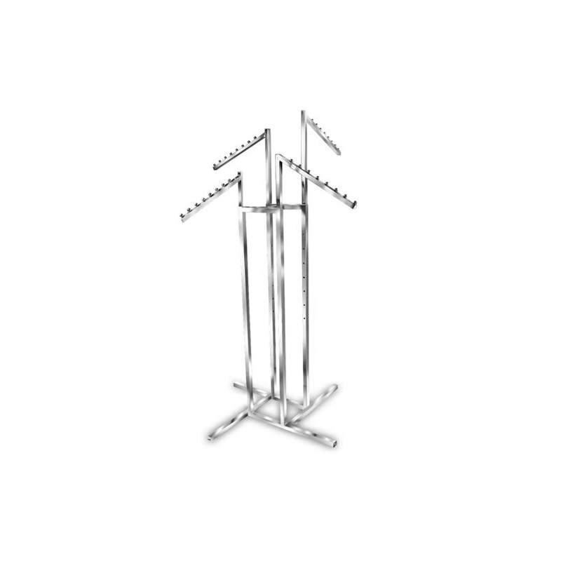 4 Way Clothing Rack With All Waterfall Arms
