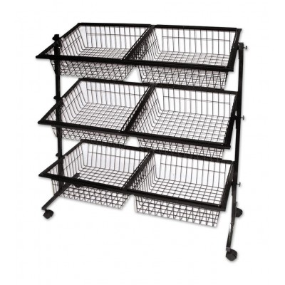 6 Basket Impulse Wire Stand Black