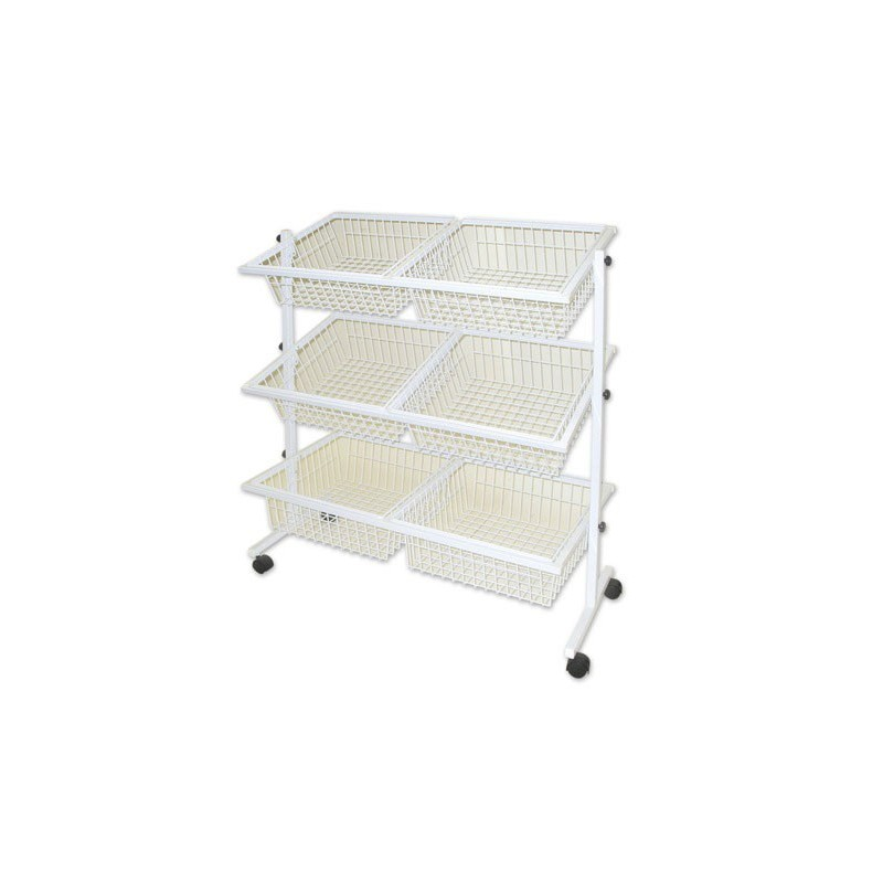 6 Basket Impulse Wire Stand White