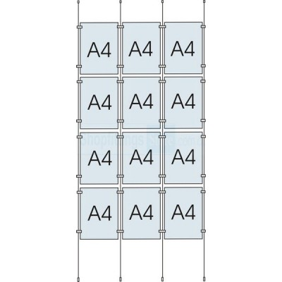 Cable Display Kit 12x A4 Sign Holder Portrait