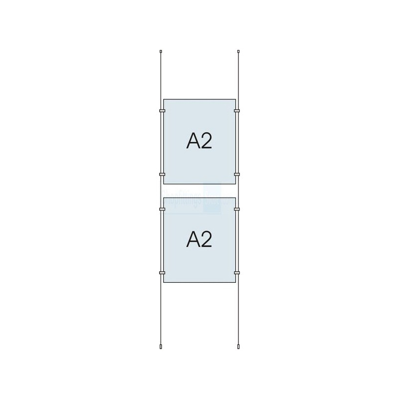 Cable Display Kit 2x A2 Sign Holder Portrait