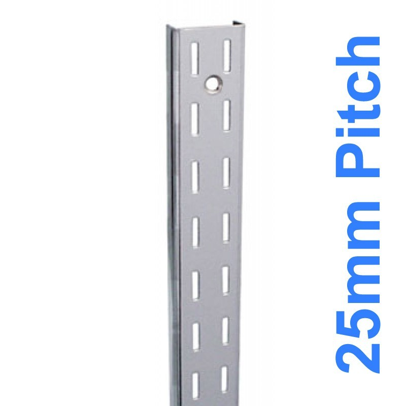 Wall Strip 25mm Pitch Double Chrome 1800mm