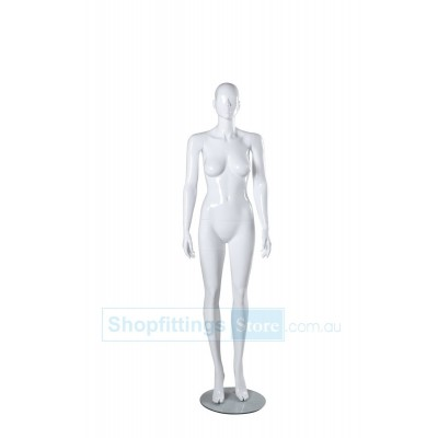 Gloss Female Abstract Mannequin SUE2 White