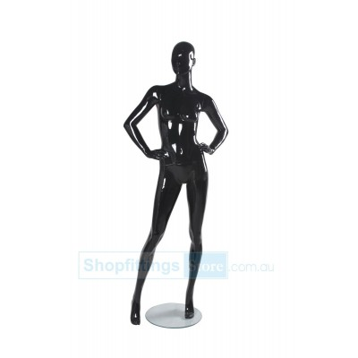 Gloss Female Abstract Mannequin SUE1 Black