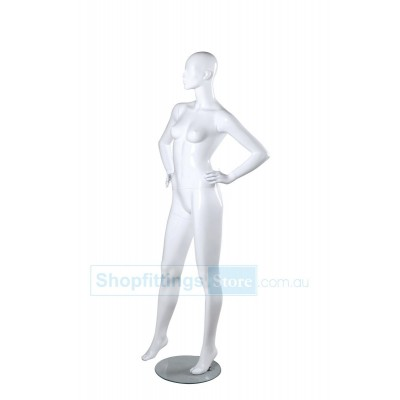 Mat Female Abstract Mannequin SUE1 White
