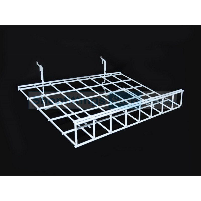 Angled Wire Shelf with Lip