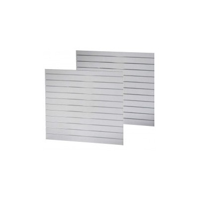 Slat Panel1200x1200 White, PAIR
