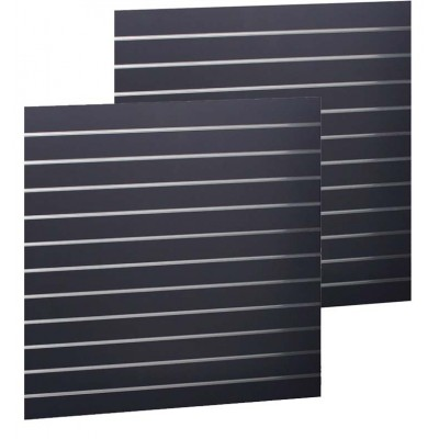 Slat Panel1200x1200 Black, PAIR