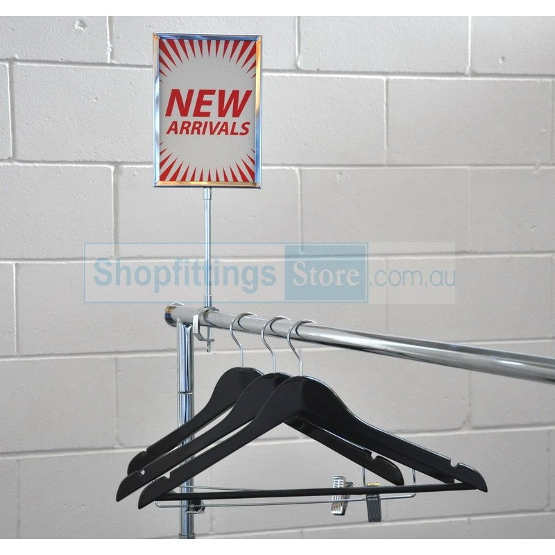 Metal Sign Holder with Clamp