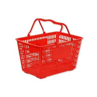 Plastic Shopping Basket 20L Red