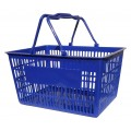 Plastic Shopping Basket 20L Blue