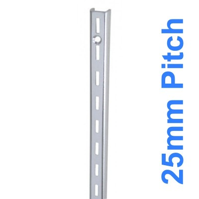 Wall Strip 25mm Pitch Single Chrome 2400mm