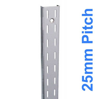 Wall Strip 25mm Pitch Double Chrome 2400mm