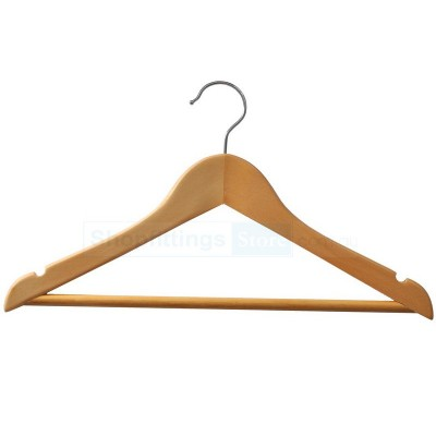 Adult Wood Shirt Hanger Natural B Grade