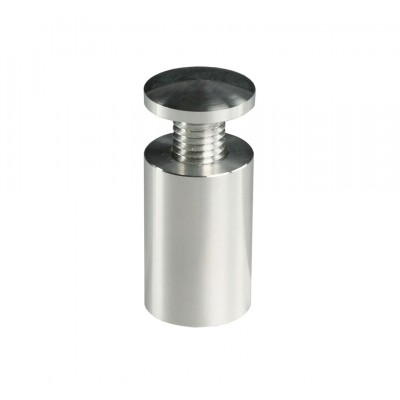 Standoff Dome Top 16mm x 25mm Satin Silver