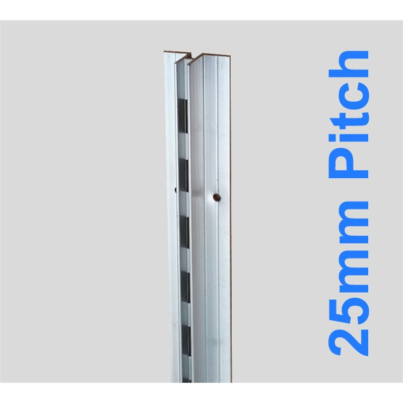 Concealed Aluminum Stripping Single 2400mm 25mm Pitch