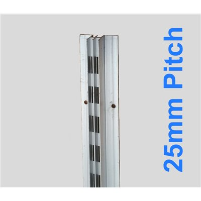 Concealed Aluminum Stripping Double 2400mm 25mm Pitch