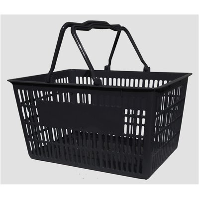 Plastic Shopping  Basket 20L Black