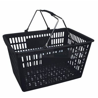 Plastic Shopping  Basket 29L Black