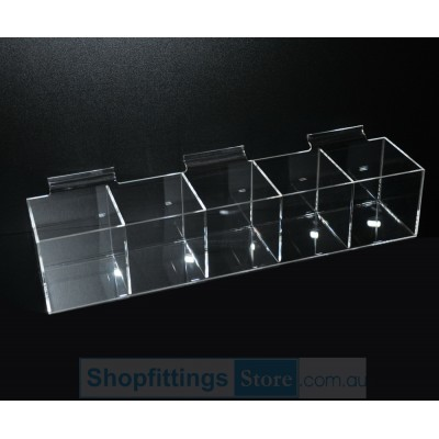 Slatwall Acrylic display 5 boxes