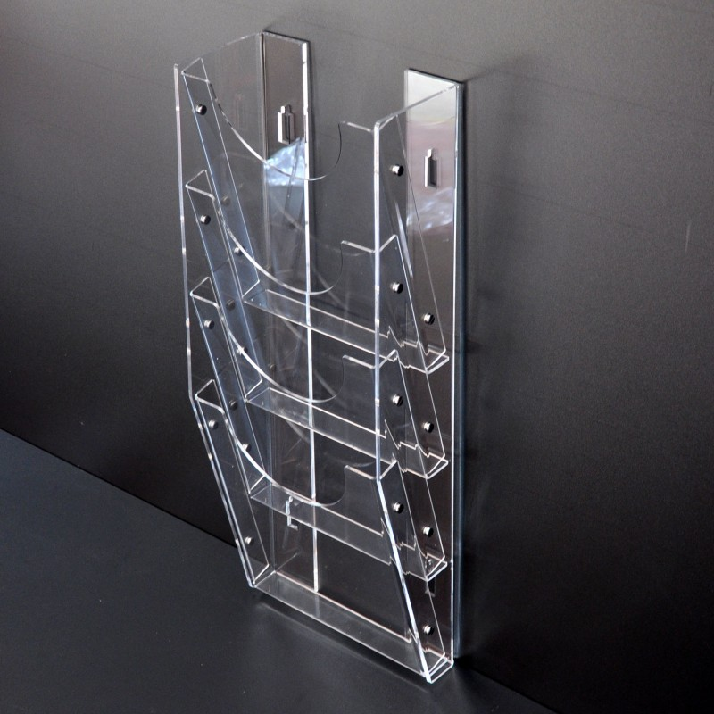 Acrylic Wall Mounted Brochure Magazine Holder 4xa4