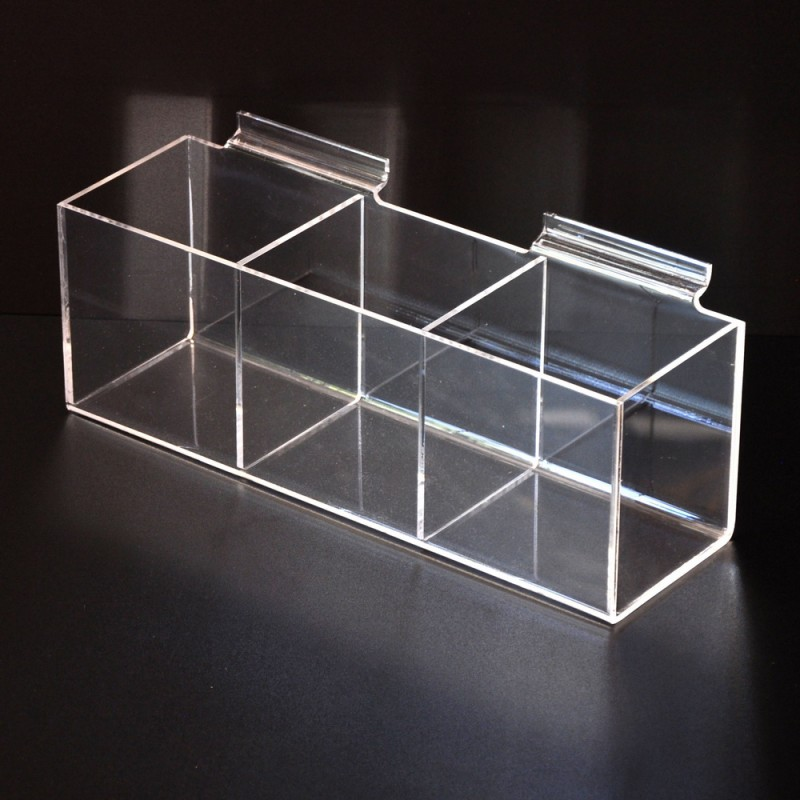 Slatwall Acrylic display 3 boxes