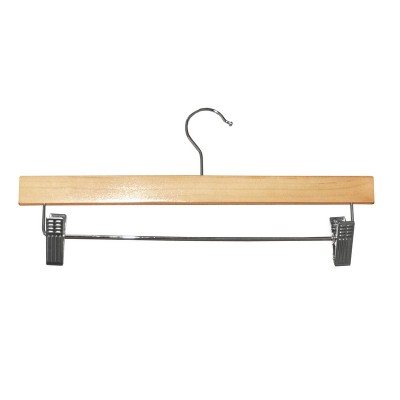 Clip Timber Hanger With Dropdown Rail and Clips Natural