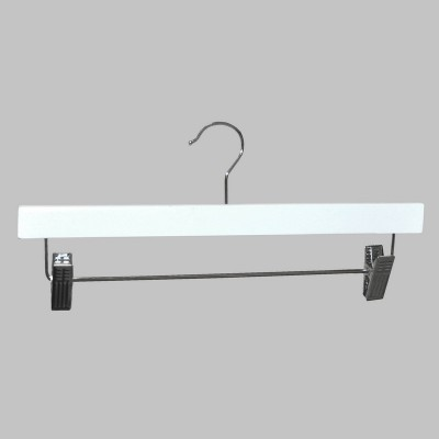 Clip Timber Hanger With Dropdown Rail and Clips White