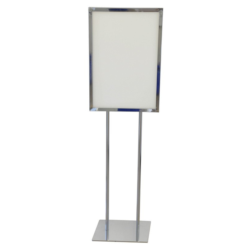 floor standing bulletin board stand up poster