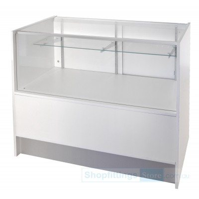 Budget 1500mm Counter Glass Showcase with Storage