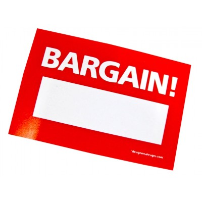 """BARGAIN"" Stickers - 100 per roll"