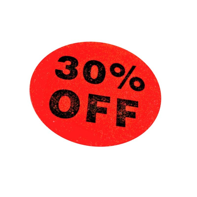 30% Off Sale Stickers - 500pcs/roll