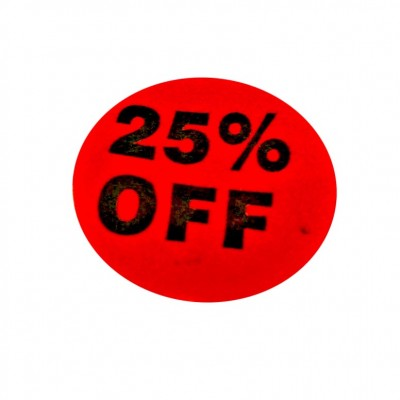"""25% Off"" Sale Stickers - 500pcs/roll"
