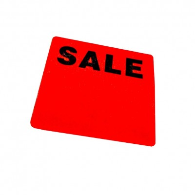 "Square ""SALE"" Writable Sale Stickers"