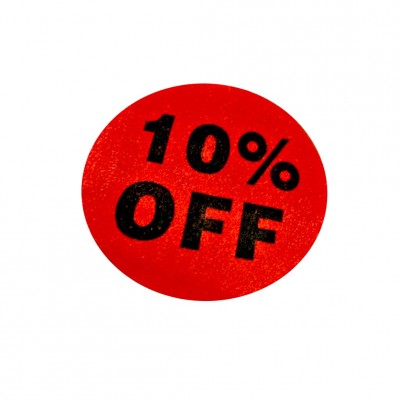 """10% Of""f Sale Stickers - 500pcs/roll"