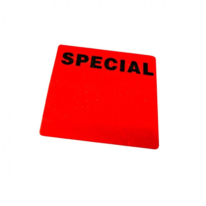 """""""SPECIAL"""" Writable Square Sale Stickers"""