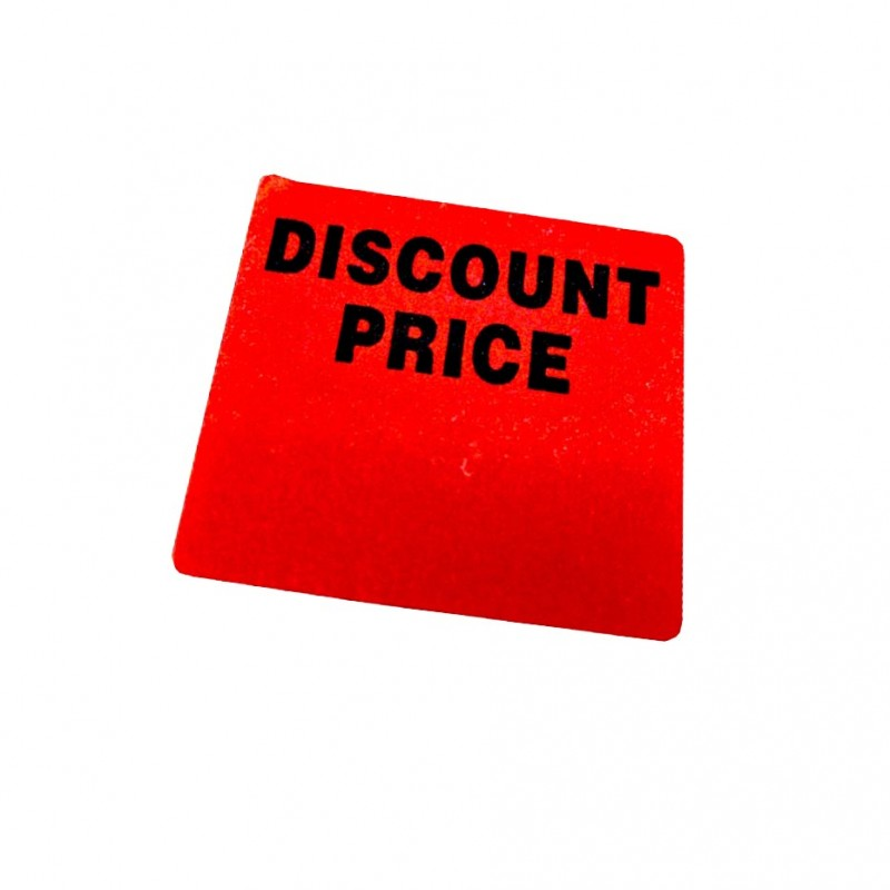 """""""DISCOUNTED PRICE"""" Writable Square Sale Stickers"""