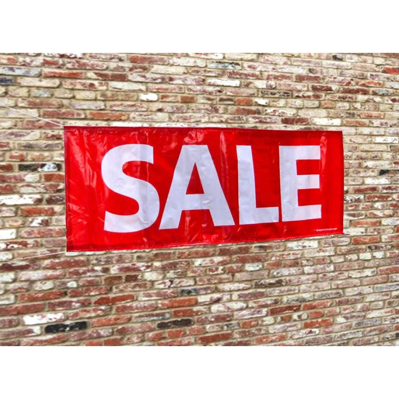 """""""SALE"""" Small PVC Sale Banner (incl. ropes)"""