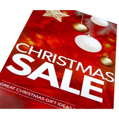 """CHRISTMAS SALE"" - Sale Sign Posters - 4 pack"