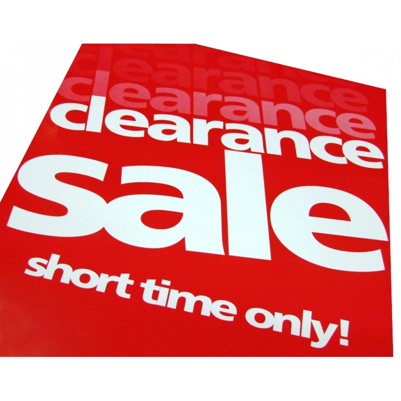 """Clearance Sale"" - Signs / Posters - 4 pack"
