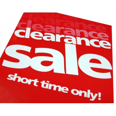 Clearance Sale - Signs / Posters - 4 pack