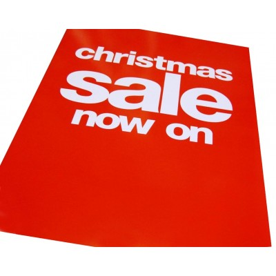 """Christmas Sale Now On"" - Signs/Posters - 4 pack"